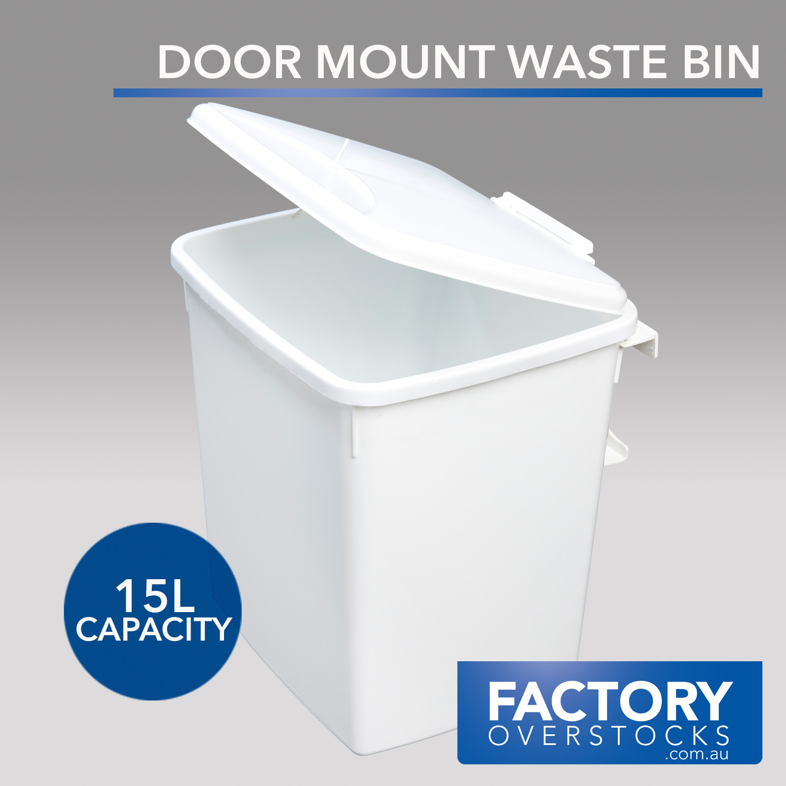 door mounted kitchen garbage can with lid glass tiles 15l mount waste bin swing out rubbish