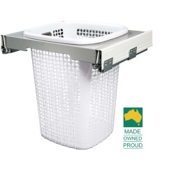Kitchen Sliding Baskets Swag Curtains Klh6000 Kimberley Concealed Pull Out Laundry Hamper