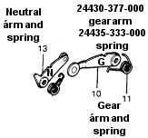 shift kit, detent arm, detent star, Factory Pro, 800 869