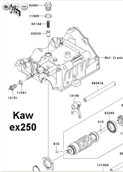 Ninja ex250, gpx250r, Factory Pro 800 869-0497 kawasaki