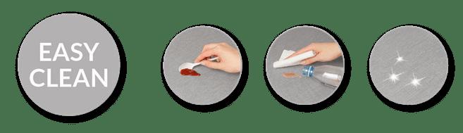 Τα Αλέκιαστα Υφάσματα Easy Clean καθαρίζονται πολύ εύκολα.