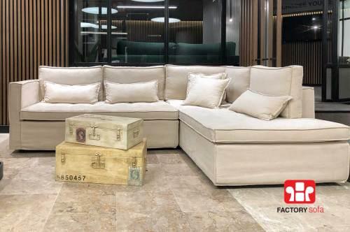Σαλόνι γωνία NAXOS • Διάστασης 2.70μ. X 2.00μ. • Ελληνικής κατασκευής • Mε δυνατότητα αλλαγής υφάσματος • Διατίθεται με αδιάβροχο ύφασμα σε μεγάλη ποικιλία χρωμάτων.