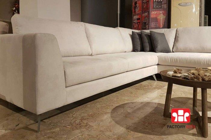 Γωνιακό Σαλόνι ANTIPAROS 3.00μ. Χ 2.50μ. με αδιάβροχο ύφασμα και δυνατότητα αλλαγής υφάσματος. Ελληνικής Κατασκευής με την εγγύηση της Factory Sofa.