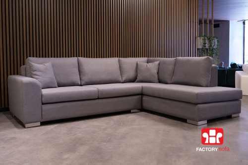 Γωνιακό Σαλόνι Skopelos με Κάθισμα Memory Foam   Σαλόνια Καναπέδες Factory Sofa Προσφορές