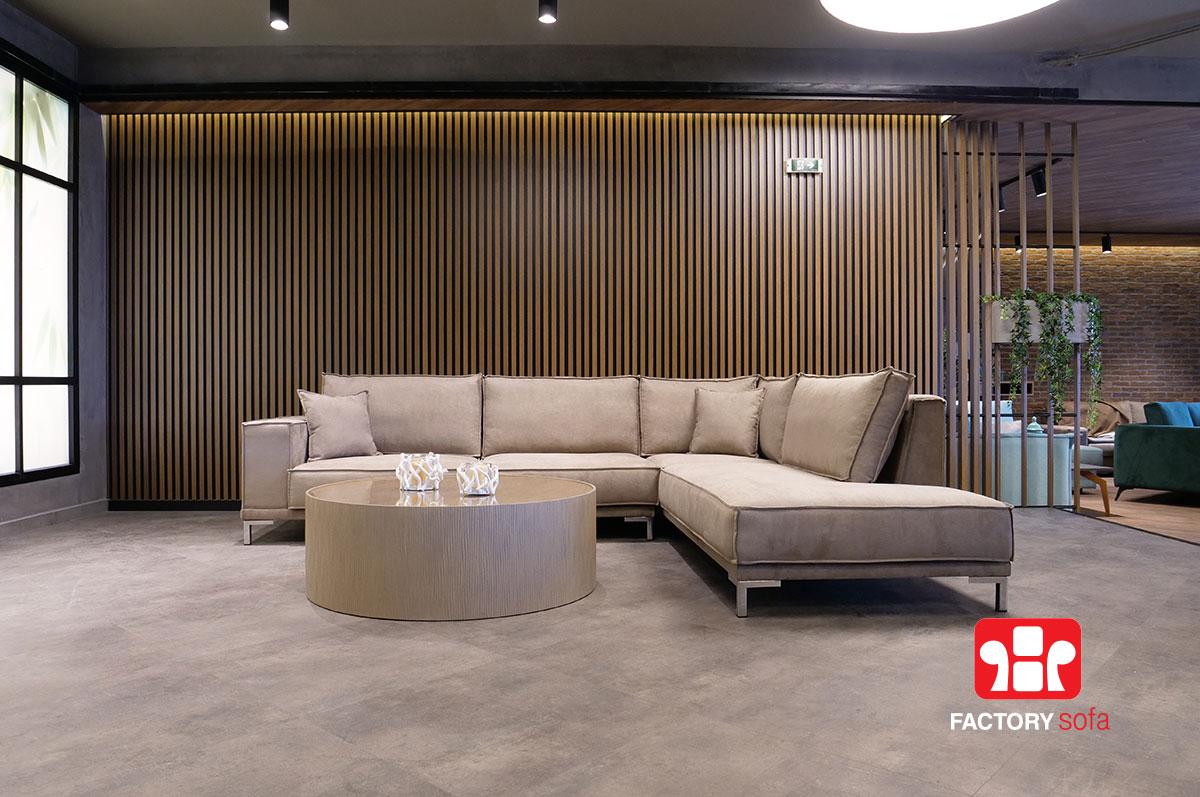 Γωνιακό Σαλόνι Thassos | Σαλόνια Καναπέδες Factory Sofa Προσφορές