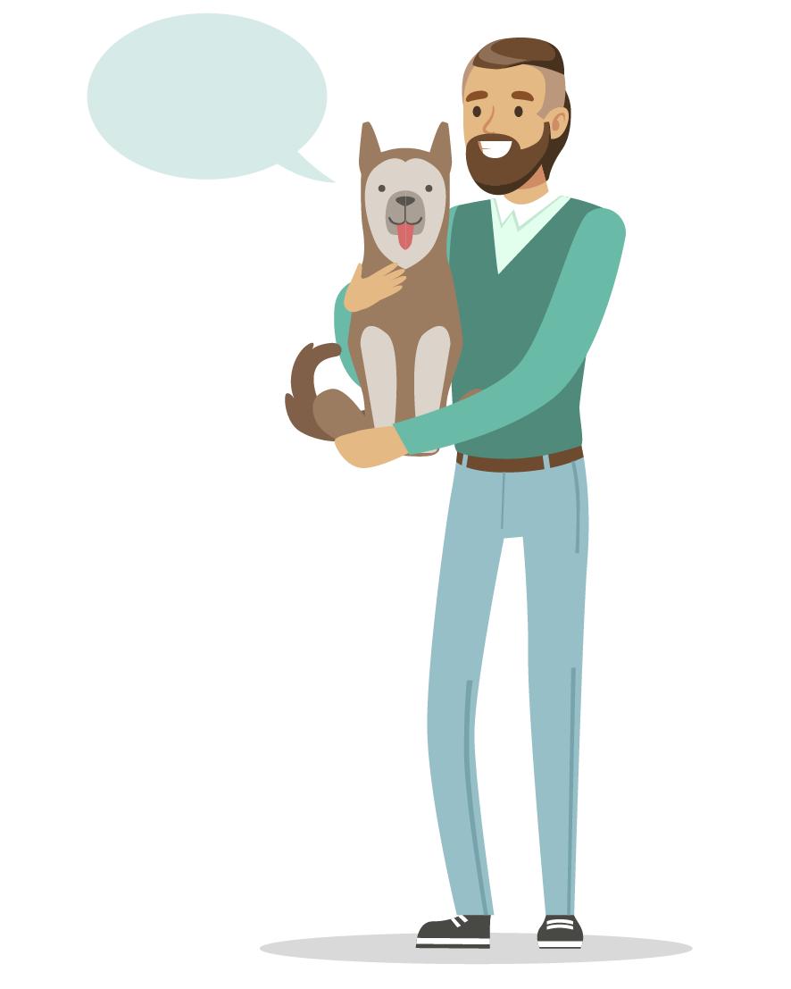 Анекдот про говорящую собаку