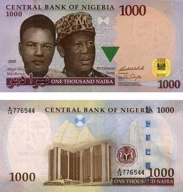 Image result for one thousand naira note