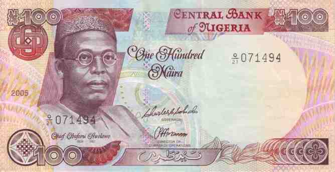 Image result for 5. ₦100- Obafemi Awolowo