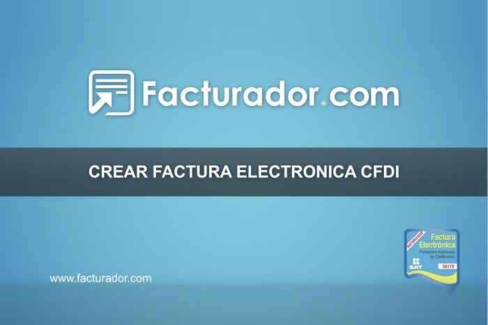 Como crear una Factura Electrónica