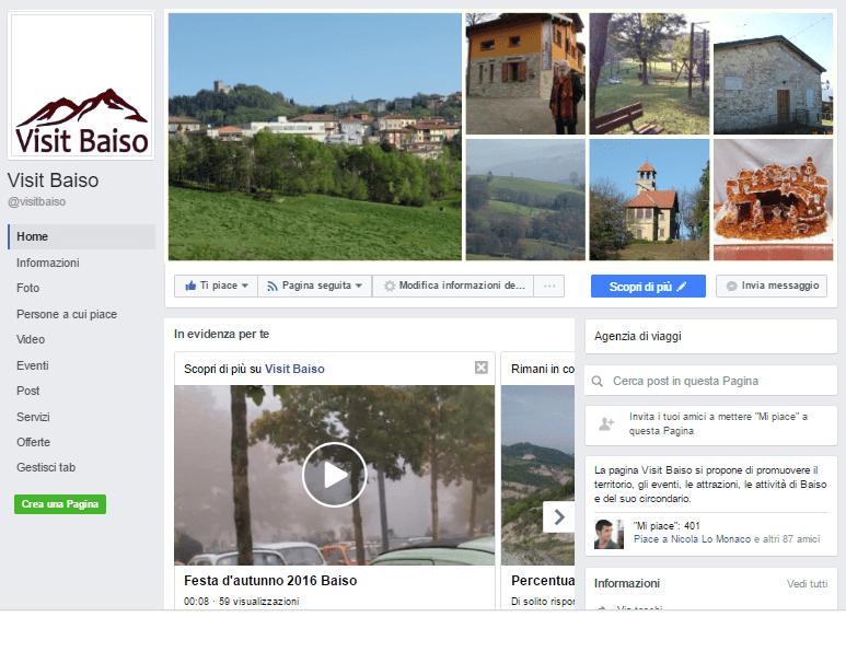 Pagina Facebook Visit Baiso