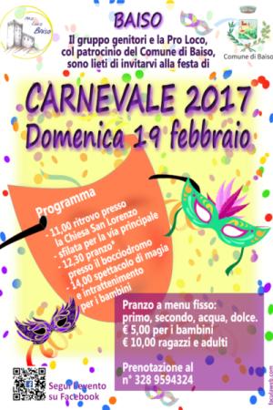 Volantino Carnevale Baiso 2017