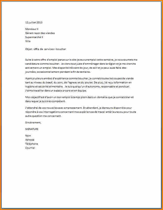 image lettre de motivation pour un supermarche modele cv