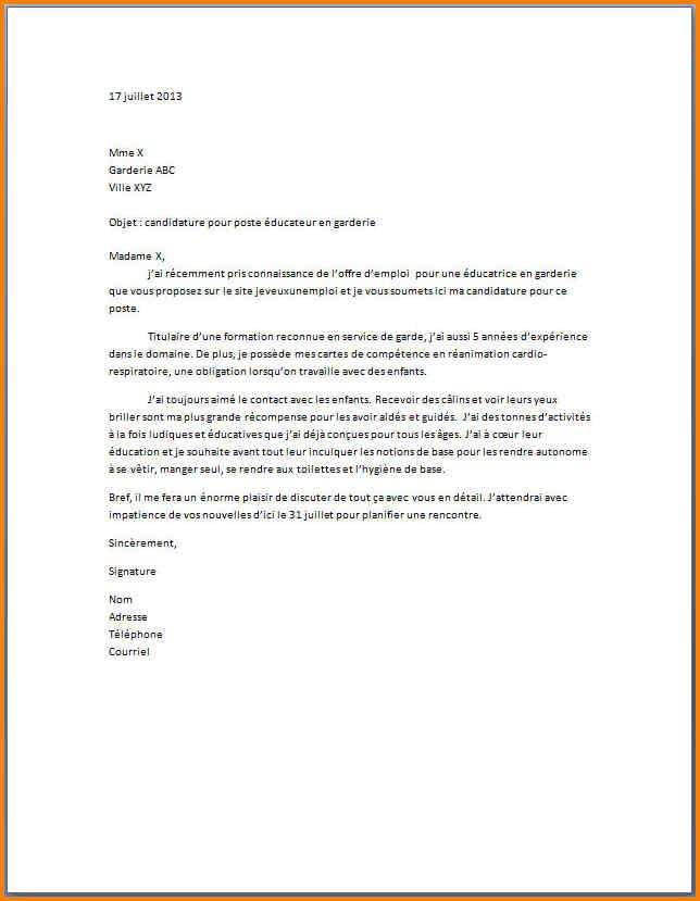 image lettre de motivation recherche emploi lettre de presentation