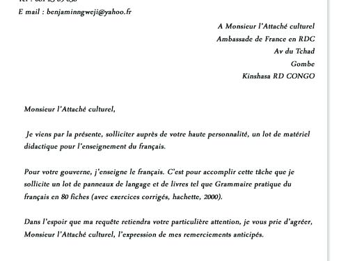image exercices lettre administrative modele cv