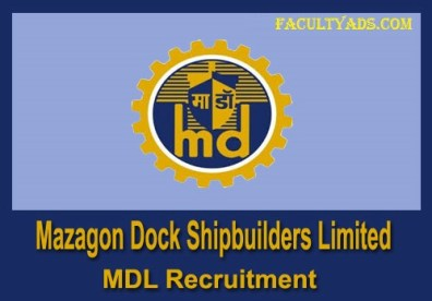 Mazagon Dock Shipbuilders Limited Recruitment 2019
