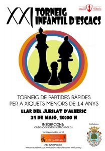 cartel torneo ajedrez infantil Alberic