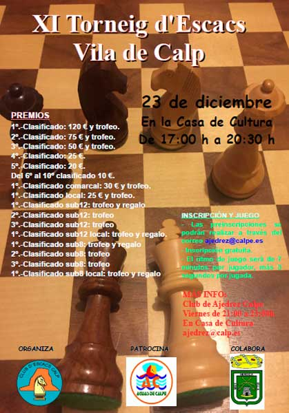 torneo ajedrez en calpe