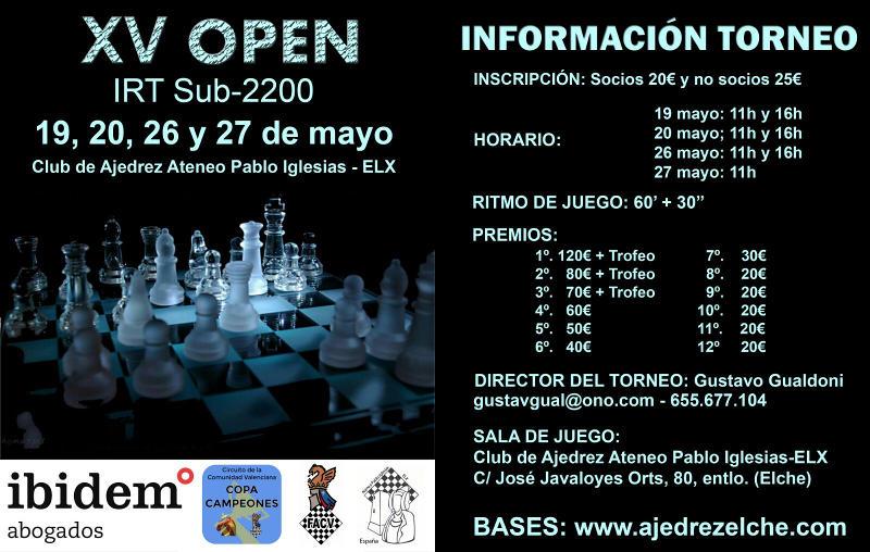 torneo de ajedrez en Elx