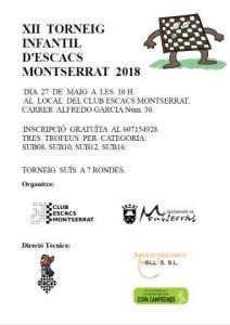 Cartel torneo Montserrat