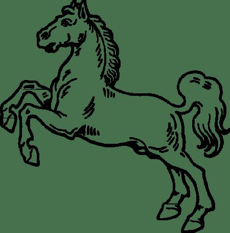 رسم و تلوين حصان جميل , صور حصان للتلوين