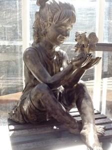 fairy girl statue