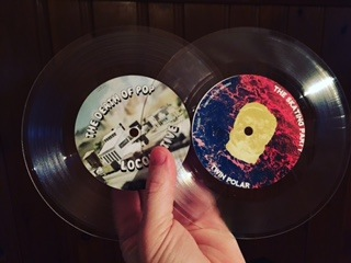 """THE DEATH OF POP/ THE SKATING PARTY SPLIT 7"""" LATHE CUT"""