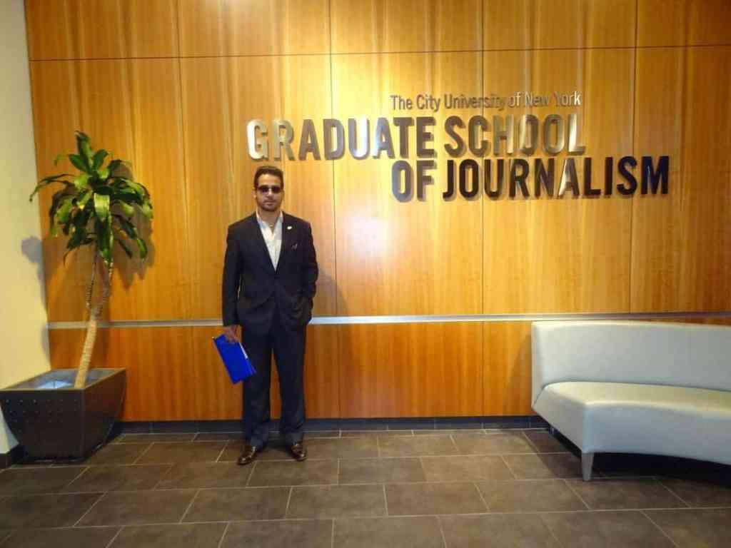 Fadi Ghali at CNNY Graduate School of Journalism in New York TV Journalist Marketer Actor