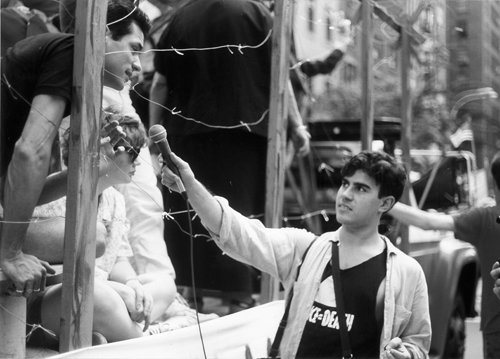 Greg Bordowitz interviews Frank Jump in ACT-UP Gay Pride Concentration Camp Float - a response to William F. Buckley Jrs HIV Tattoo Proposal