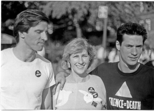 Eric Sawyer, Willy Jump & Frank Jump @ NYC Gay Pride March 1988