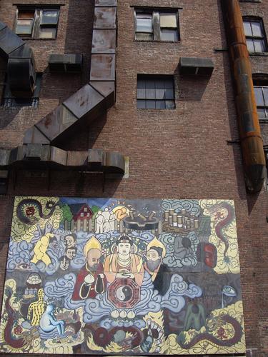 Buddha Parking Lot Mural - Chinatown, Boston MA
