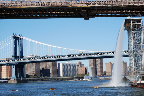 Brooklyn Bridge Park - Waterfalls - © Frank H. Jump