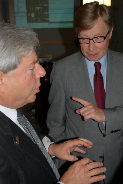 Marty with Hugo Gajus Scheltema - Netherlands Consul General - ©Frank H. Jump