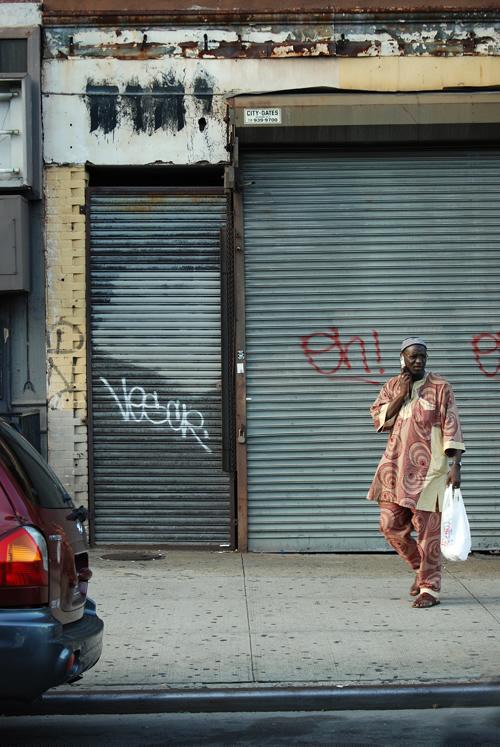 Fulton Street Hebrew Glyphs - Bed-Stuy, Brooklyn - © Frank H. Jump