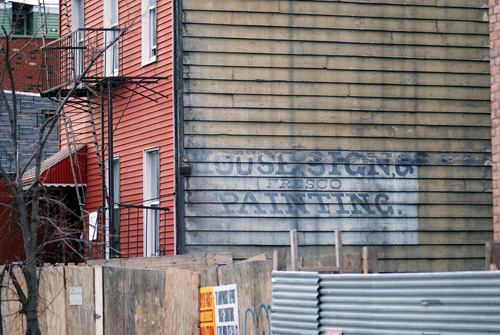 House Signs & Frescos Painted - Huron Street - Greenpoint, Brooklyn