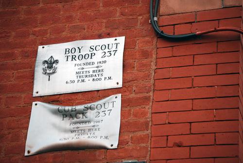 Windsor Terrace Boy Scouts Plaque