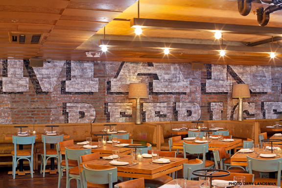 Artstep paints three monumental murals for catch seafood for Mural restaurant