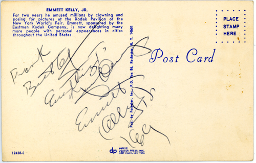 Signed Postcard while in hospital for appendicitis - 1969