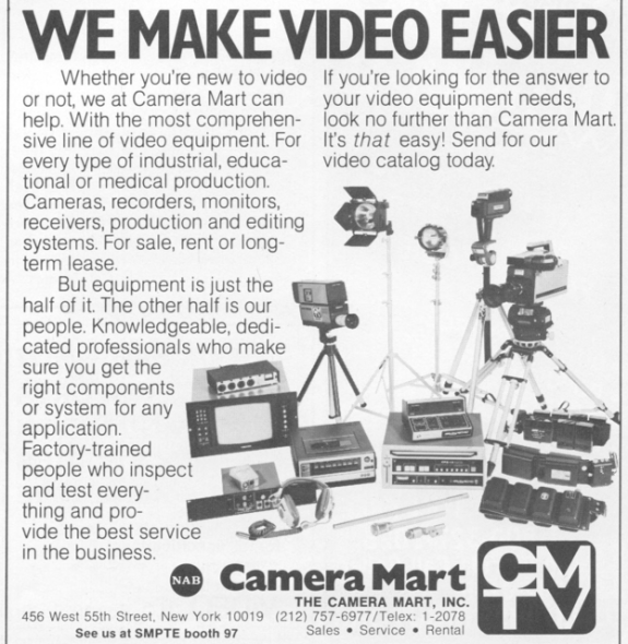 Camera Mart – Midtown, NYC – Fading Ad Blog