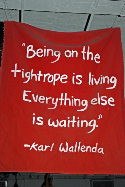 Karl Wallenda on Tightrope