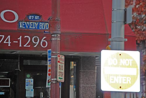 Kennedy Blvd Sign - Union City, NJ - © Frank H. Jump