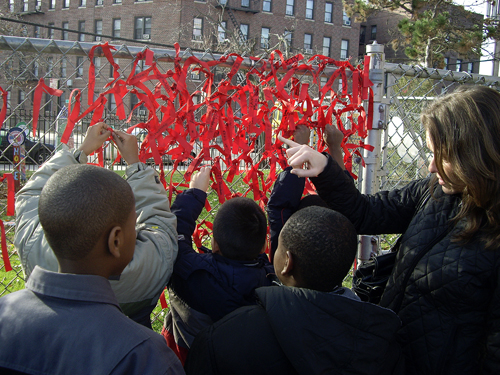 World AIDS Day - Red Ribbon Ceremony - P.S. 119 Flatlands, Brooklyn