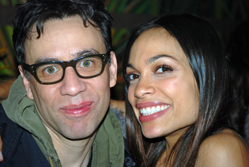 Fred Armisen & Rosario Dawson @ Sinigual after last nights SNL