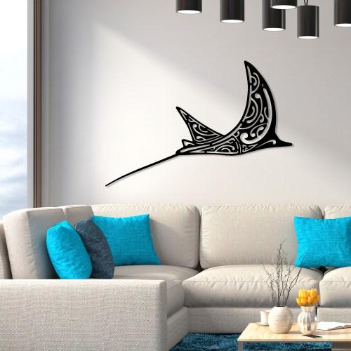 """Décoration murale acier """"La Raie Aigle"""""""