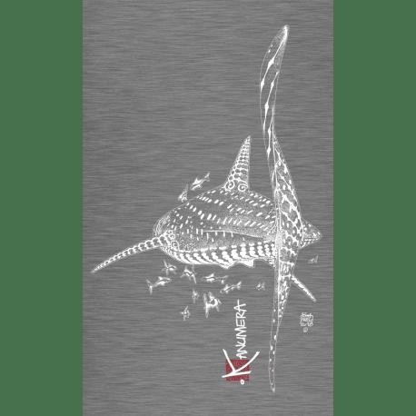 T-shirt-kanumera-femme-requin-gris