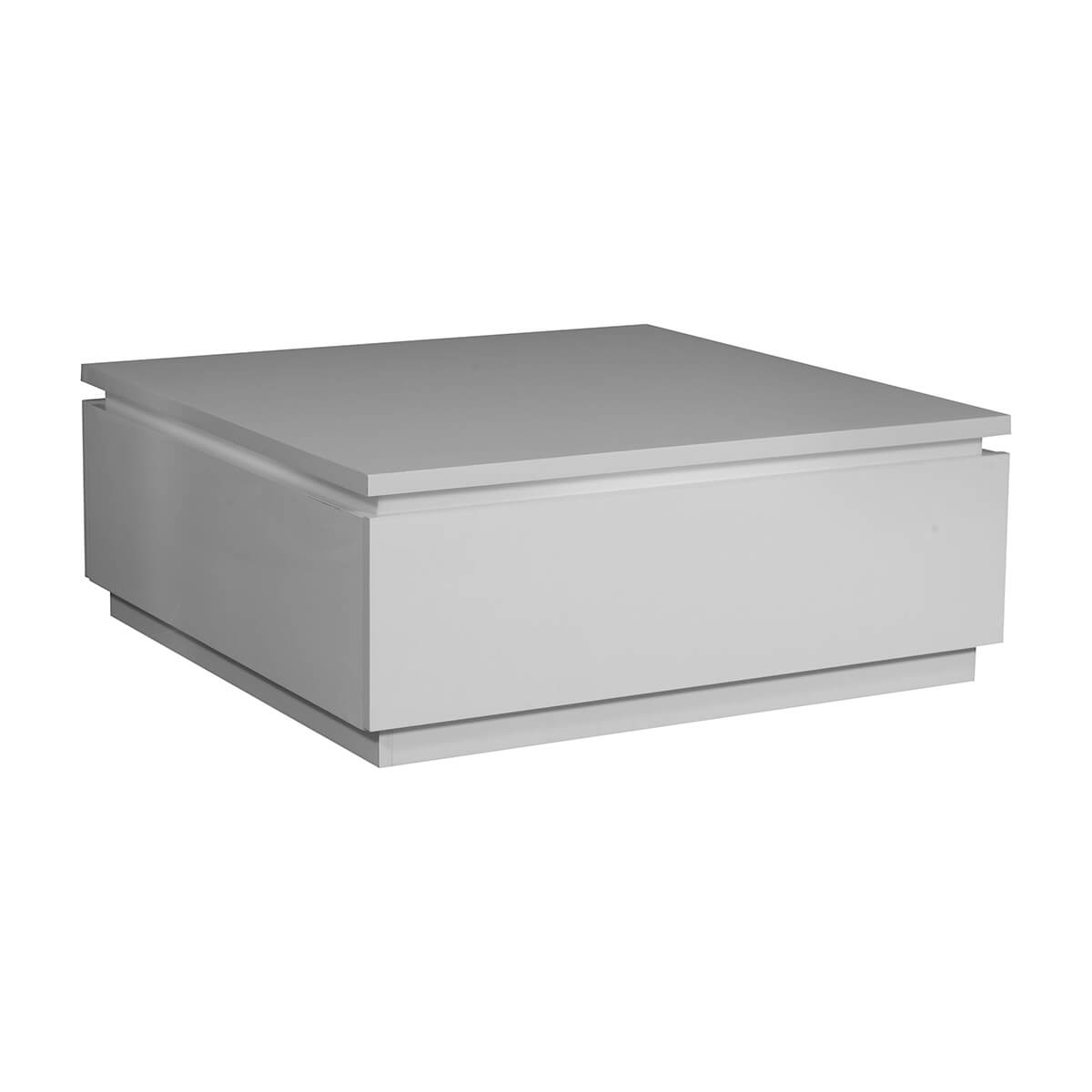 logan coffee table white high gloss with lights storage