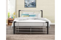 Cole Black & Silver Metal Bed Frame
