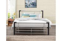 Cole Black & Silver Metal Bed Frame | Metal Bed Frames | FADS