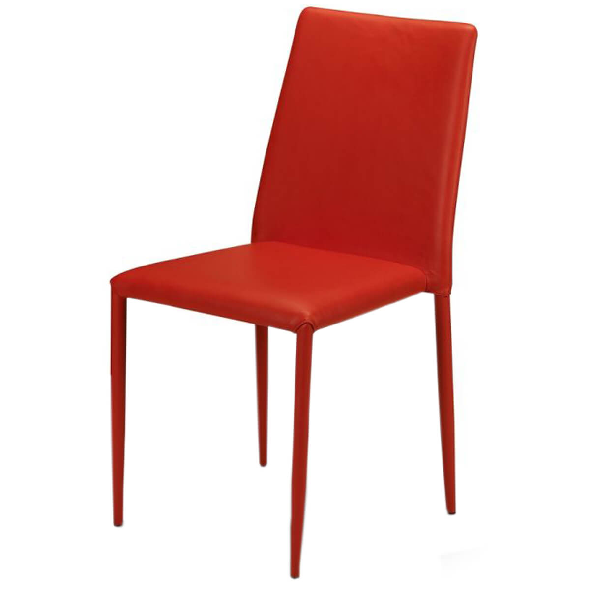 faux leather dining chairs allen and roth patio jazz stacking chair red fads