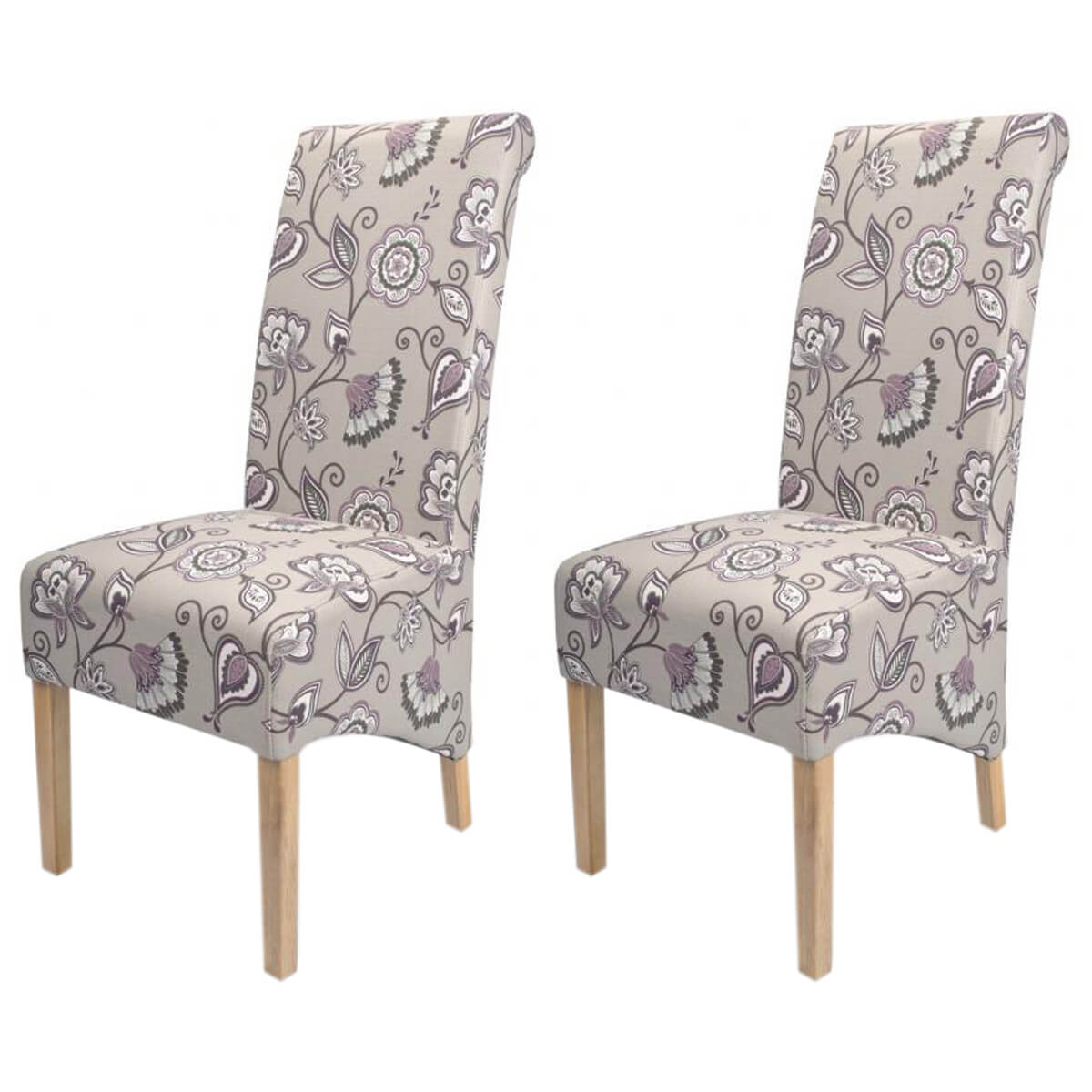 fabric dining chairs uk faux leather chair cushions krista deco amethyst floral