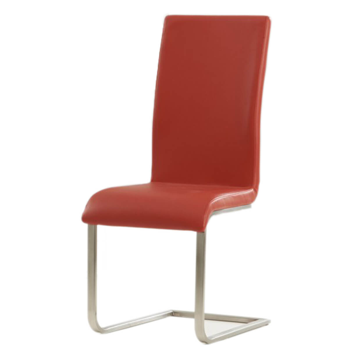 Malibu Cantilever Red Faux Leather Dining Chair  Free